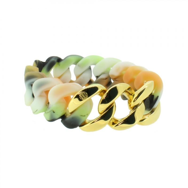 HANSE-KLUNKER ORIGINAL Damen Armband 107012 Edelstahl camouflage hell gold
