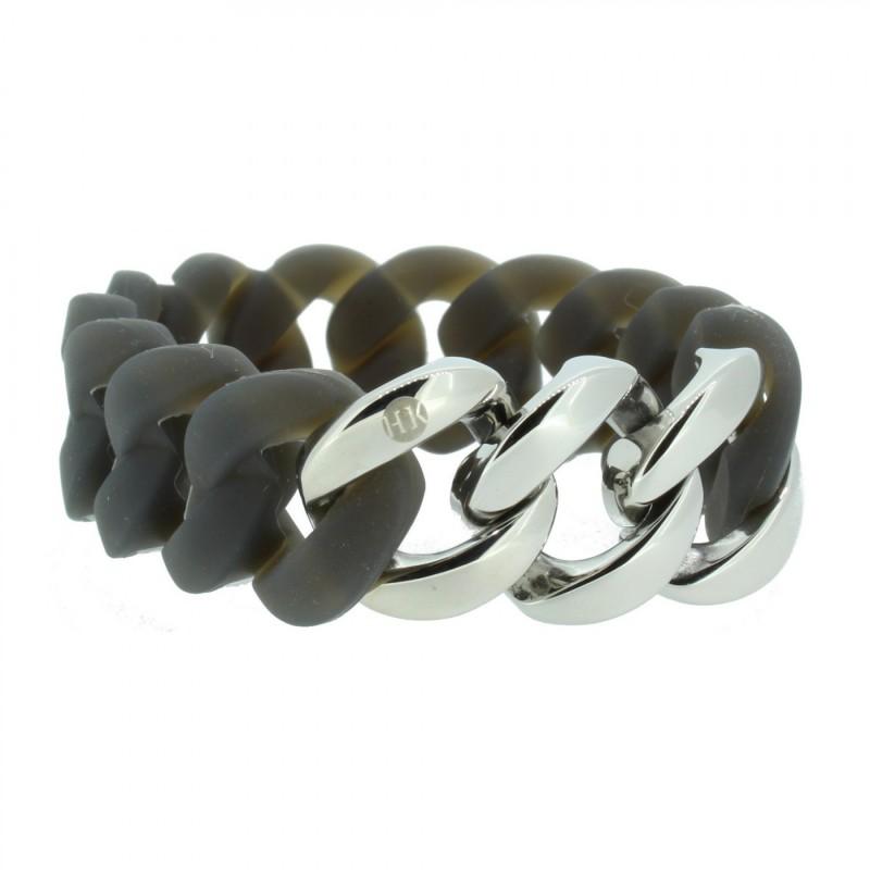 HANSE-KLUNKER ORIGINAL Damen Armband 106791 Edelstahl grau silber