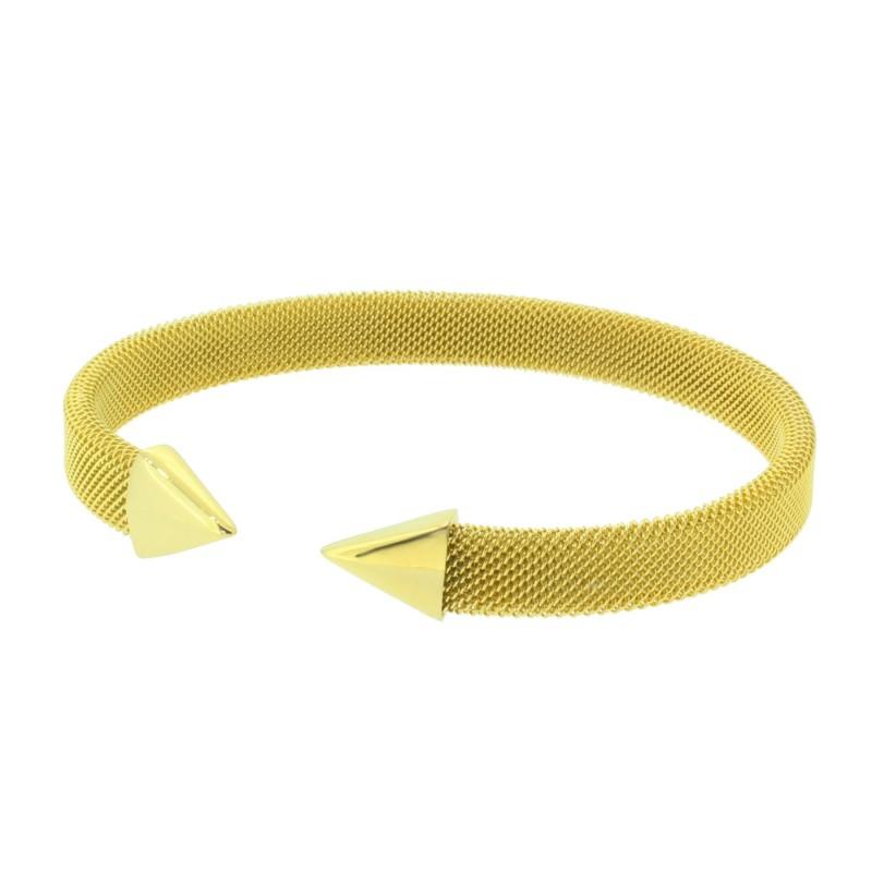 HANSE-KLUNKER MESH Collection Milanaise-Armreif Pfeil 110554 Edelstahl Gold