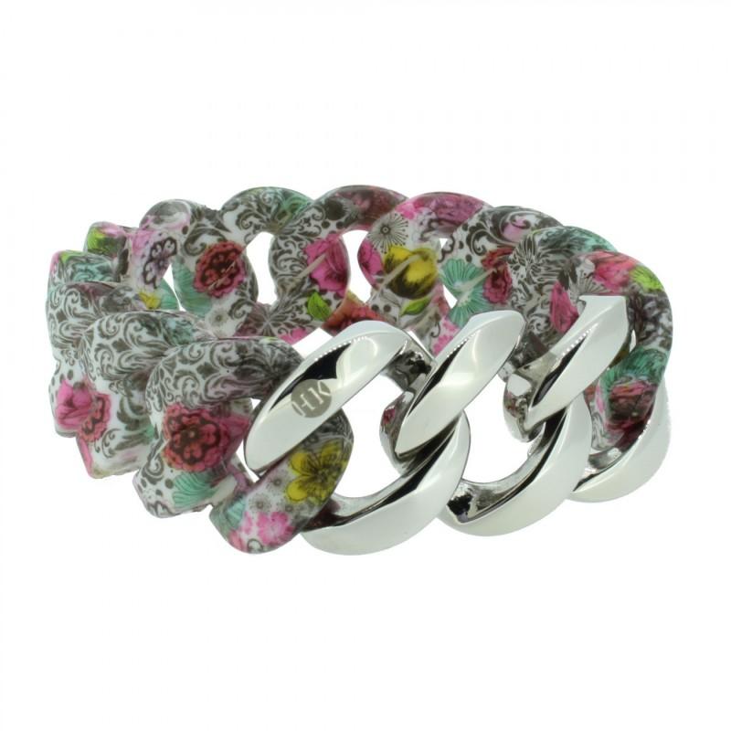 HANSE-KLUNKER ORIGINAL Damen Armband 107408 Edelstahl paisley flower silber