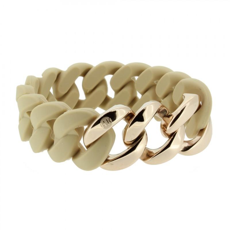 HANSE-KLUNKER ORIGINAL Damen Armband 107031 Edelstahl sand rosegold