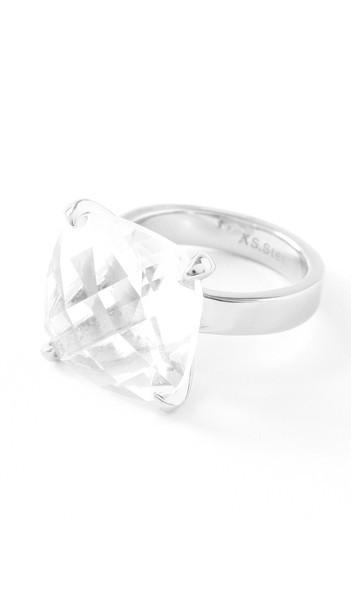 Hanse-Klunker Ring 100453 Edelstahl silber weiss