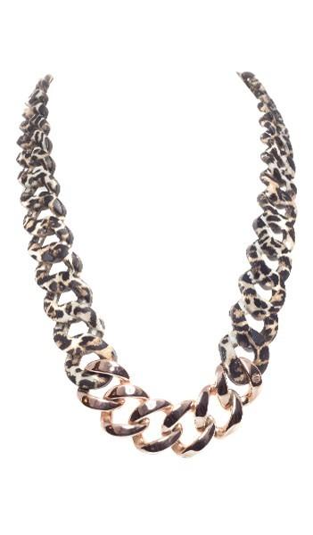 HANSE-KLUNKER Damen Kette 107107 Edelstahl leopard rosegold