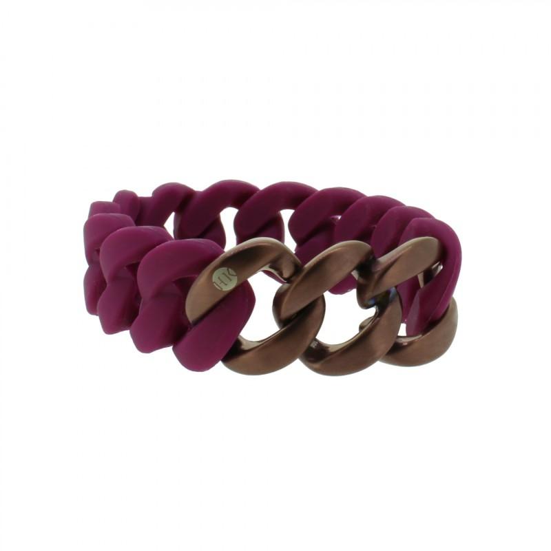 HANSE-KLUNKER ORIGINAL Damen Armband 107777 Edelstahl aubergine bronze matt