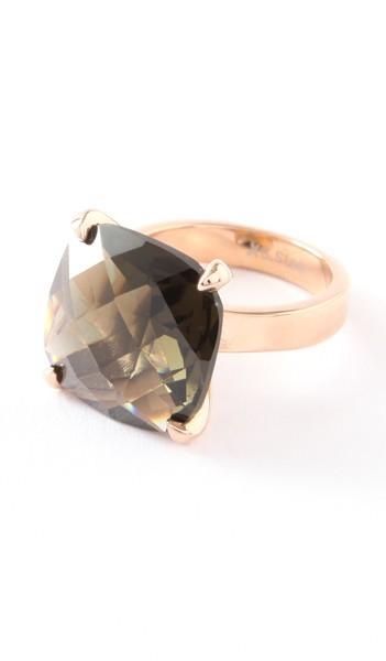 Hanse-Klunker Ring 100454 Edelstahl rosegold braun