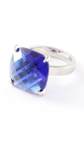 Hanse-Klunker Ring 100452 Edelstahl silber blau