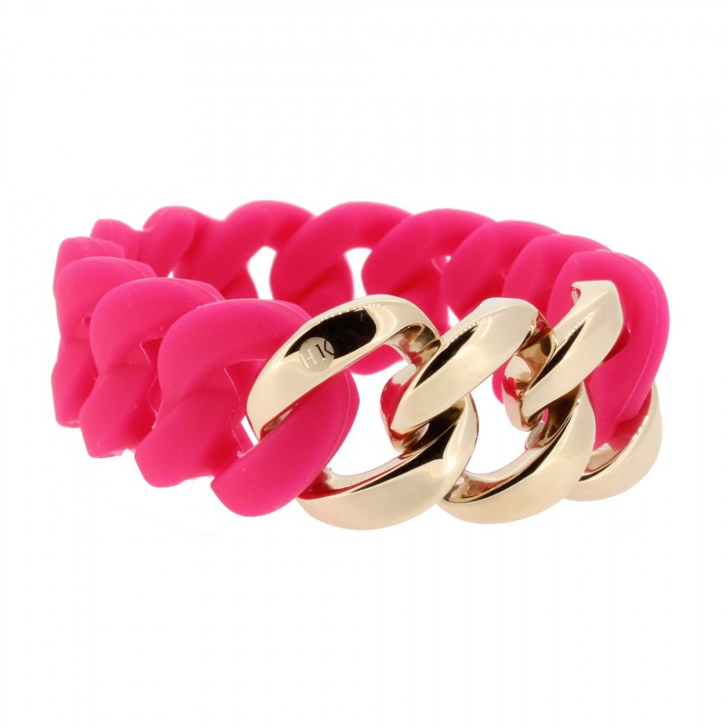 HANSE-KLUNKER ORIGINAL Damen Armband 106966 Edelstahl pink rosegold
