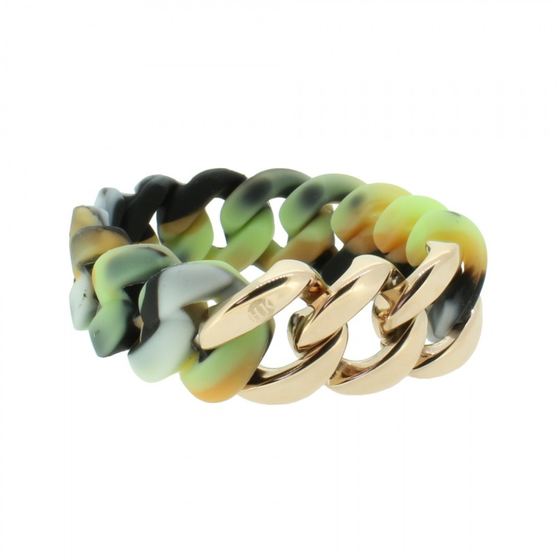 HANSE-KLUNKER ORIGINAL Damen Armband 107013 Edelstahl camouflage hell rosegold