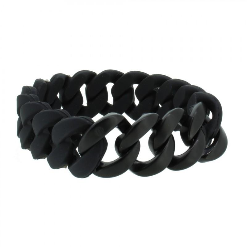 HANSE-KLUNKER ORIGINAL Herren Armband 106976 Edelstahl schwarz schwarz matt