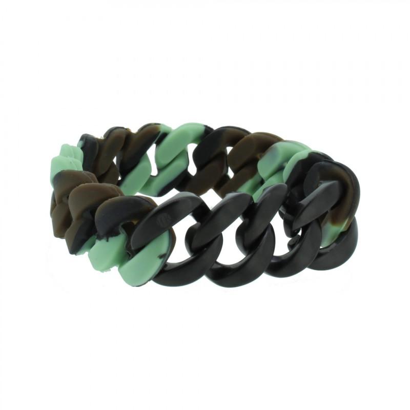 HANSE-KLUNKER ORIGINAL Herren Armband 107007 Edelstahl camouflage schwarz matt