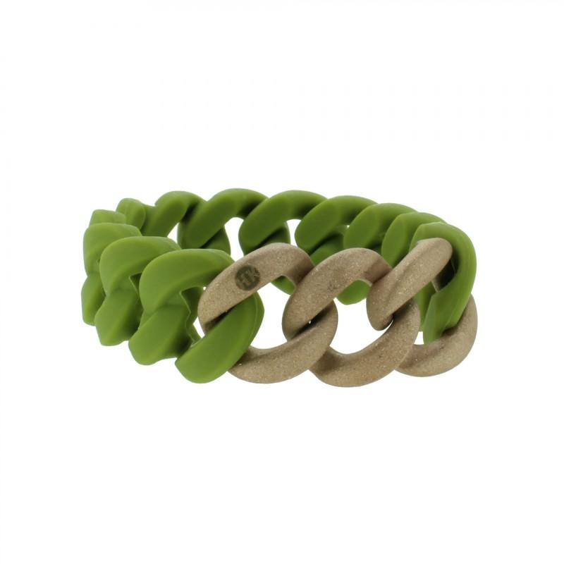 HANSE-KLUNKER ORIGINAL Damen Armband 107784 Edelstahl oliv rosegold sandgestrahlt