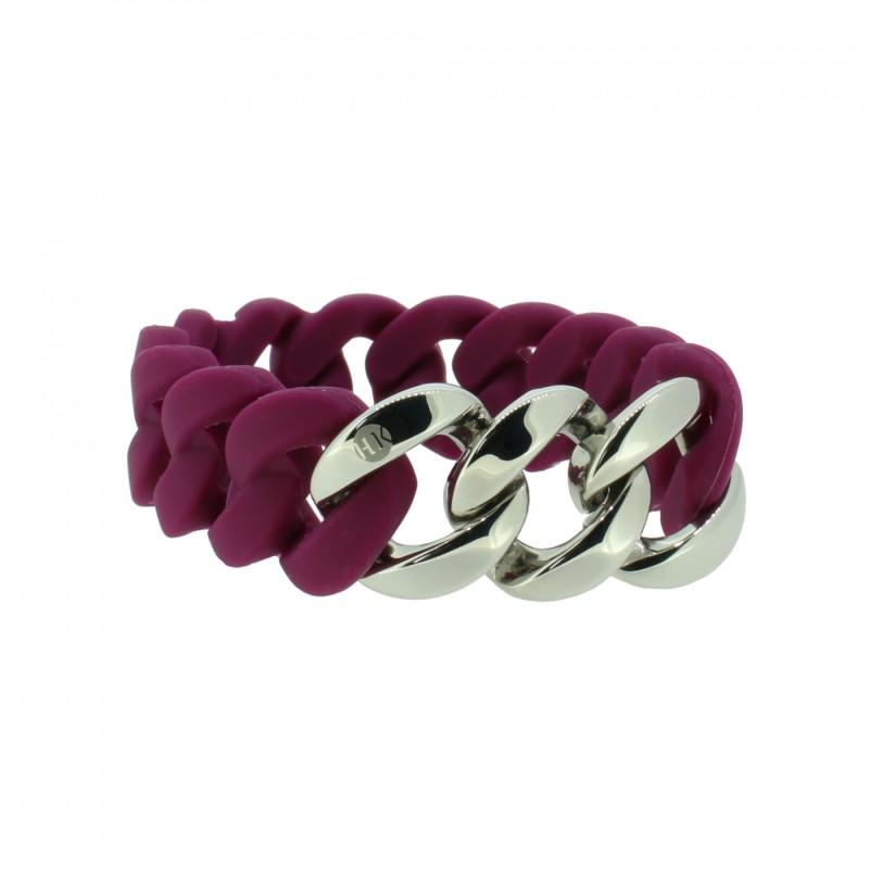 HANSE-KLUNKER ORIGINAL Damen Armband 107775 Edelstahl aubergine silber