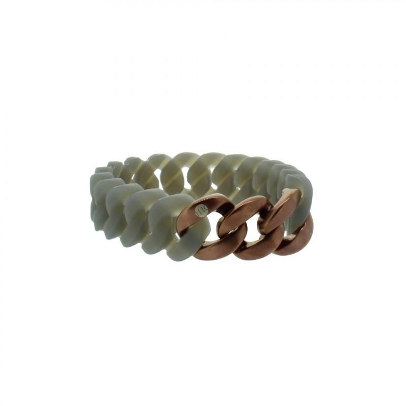HANSE-KLUNKER MINI Damen Armband 107968 Edelstahl grau bronze matt