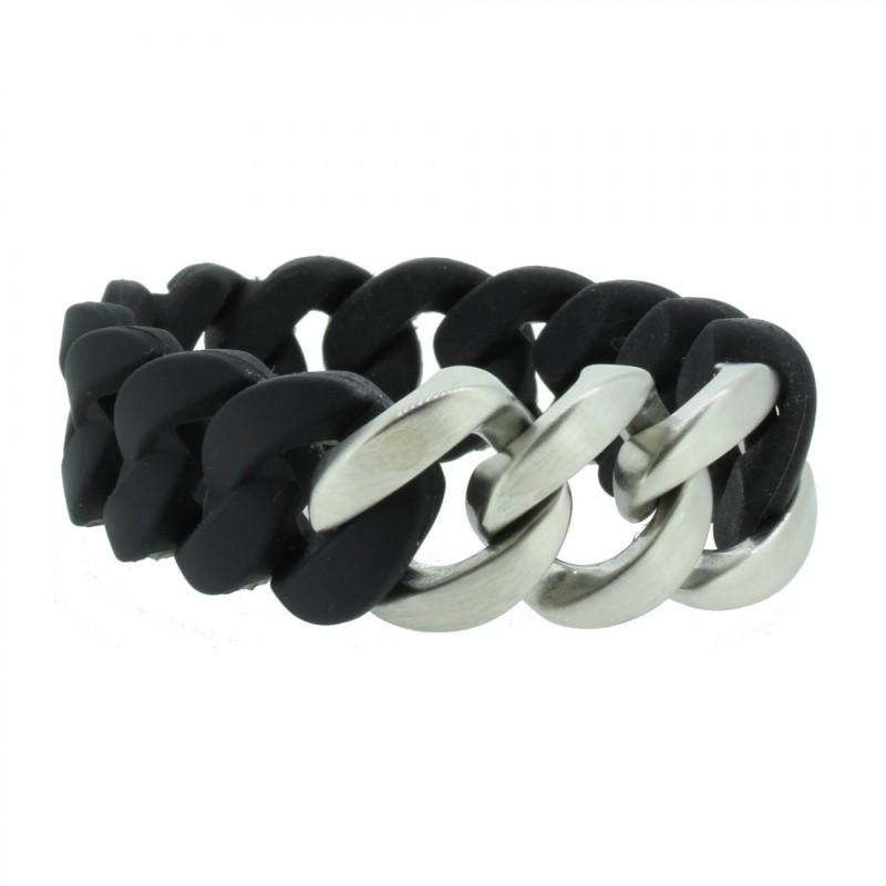 HANSE-KLUNKER ORIGINAL Damen Armband 106777 Edelstahl schwarz silber matt