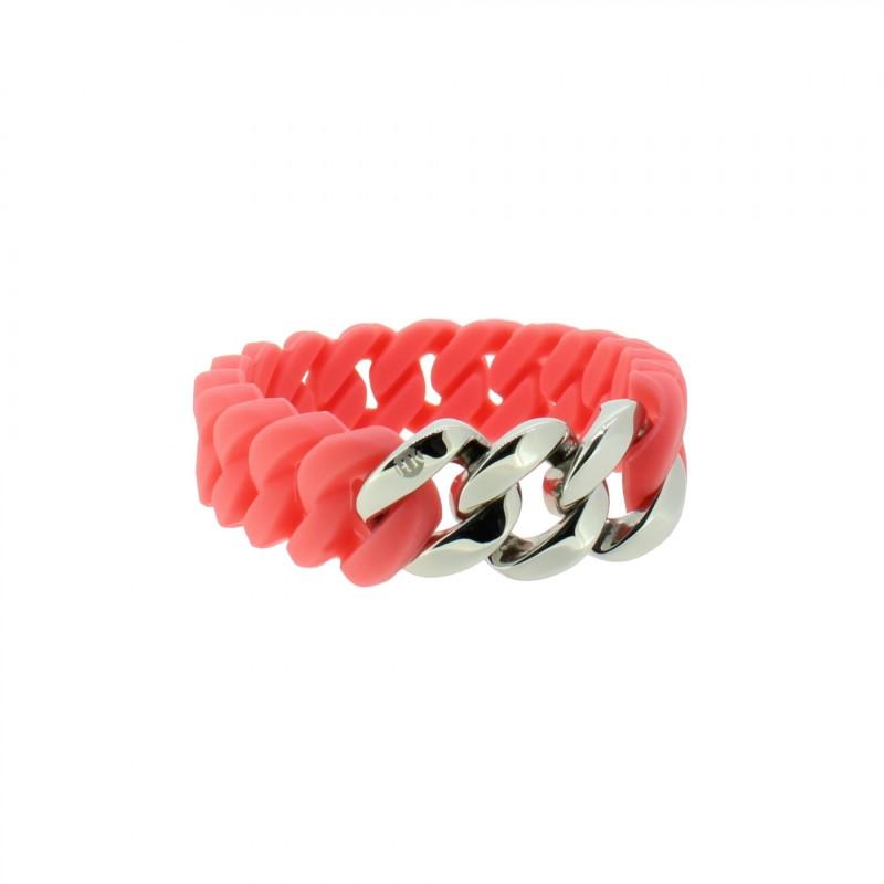 HANSE-KLUNKER MINI Damen Armband 107974 Edelstahl koralle silber