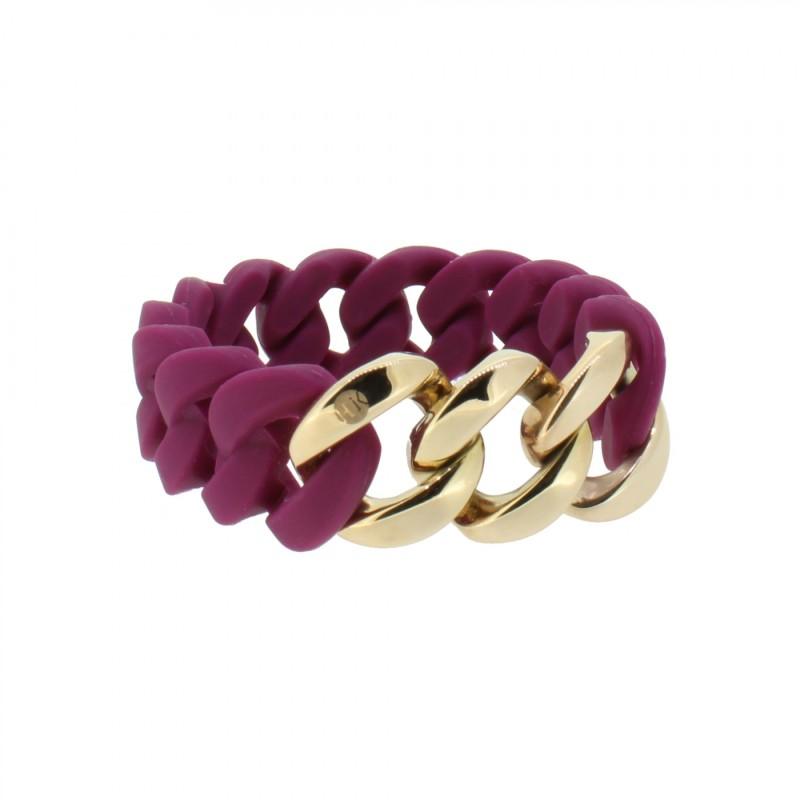 HANSE-KLUNKER ORIGINAL Damen Armband 107927 Edelstahl aubergine rosegold