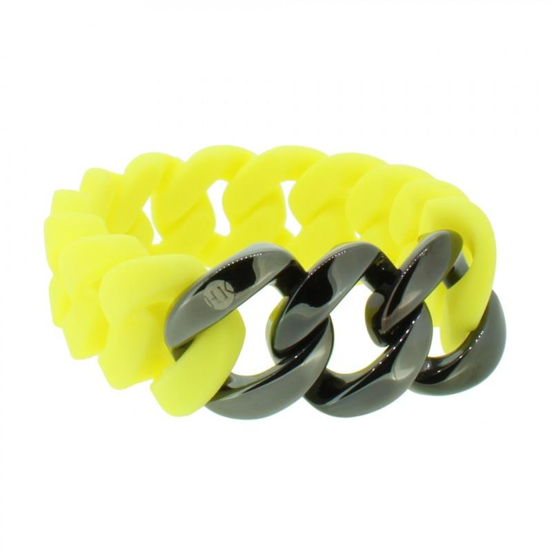 HANSE-KLUNKER ORIGINAL Damen Armband 107426 Edelstahl gelb gun metal