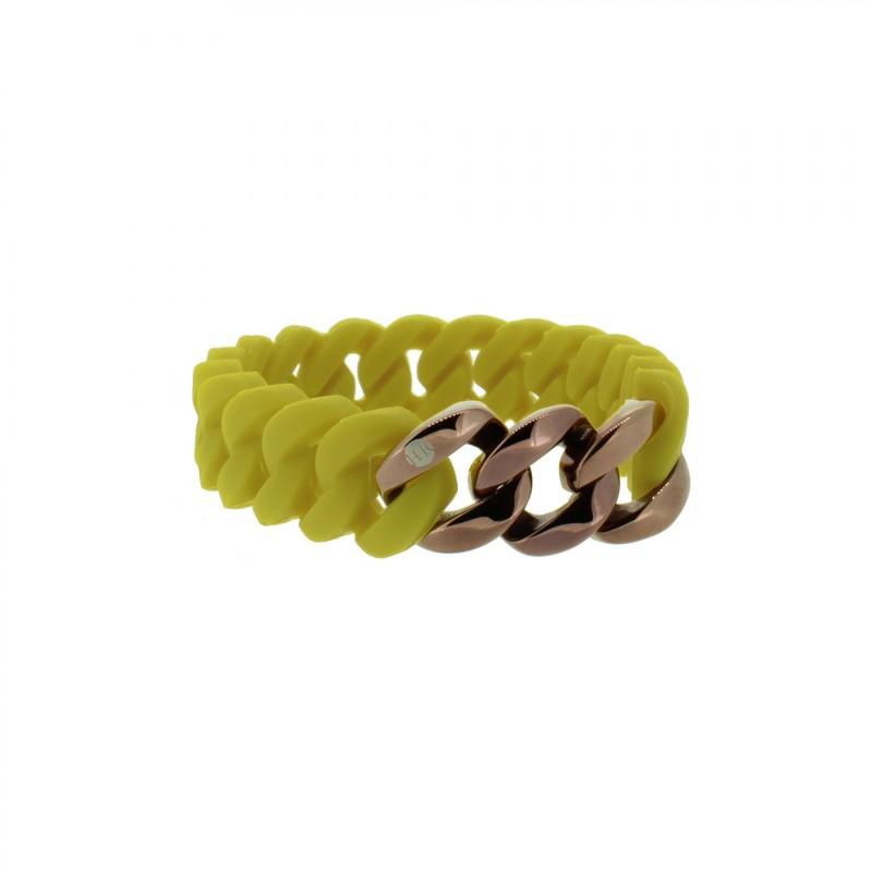 HANSE-KLUNKER MINI Damen Armband 107975 Edelstahl senf gelb bronze