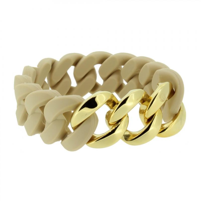HANSE-KLUNKER ORIGINAL Damen Armband 107030 Edelstahl sand gold