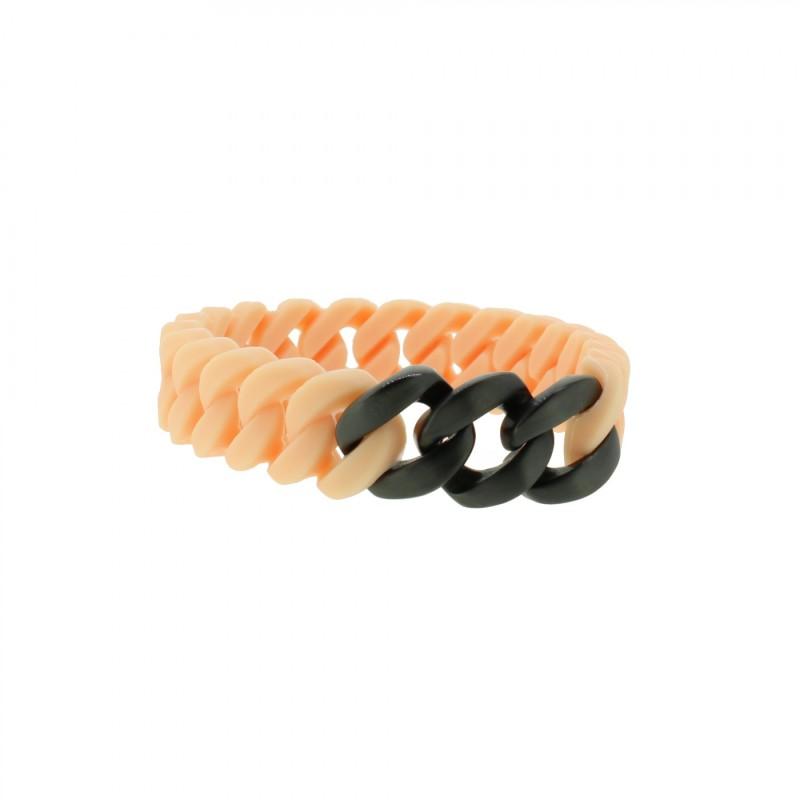 HANSE-KLUNKER MINI Damen Armband 107709 Edelstahl rosenude schwarz matt