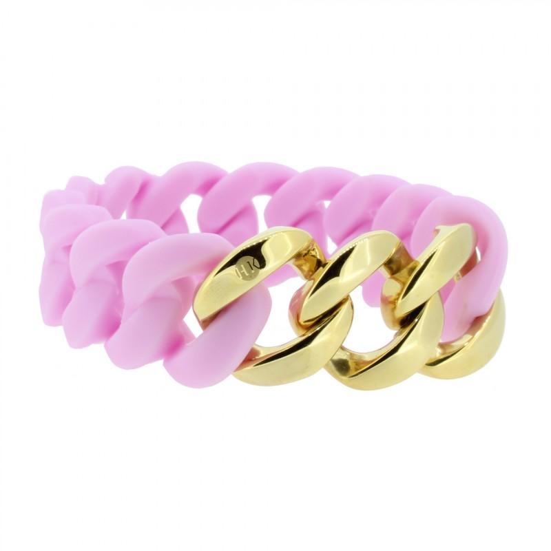 HANSE-KLUNKER ORIGINAL Damen Armband 106962 Edelstahl flieder gold