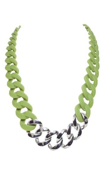 HANSE-KLUNKER Damen Kette 107088 Edelstahl oliv silber