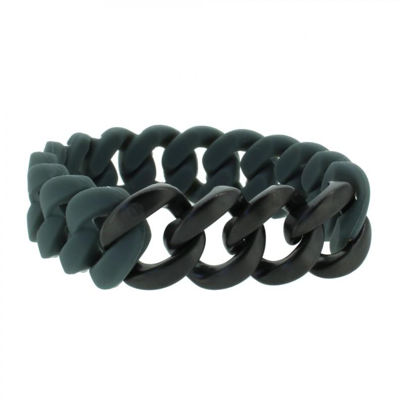 HANSE-KLUNKER ORIGINAL Herren Armband 107417 Edelstahl dunkelgrau schwarz matt