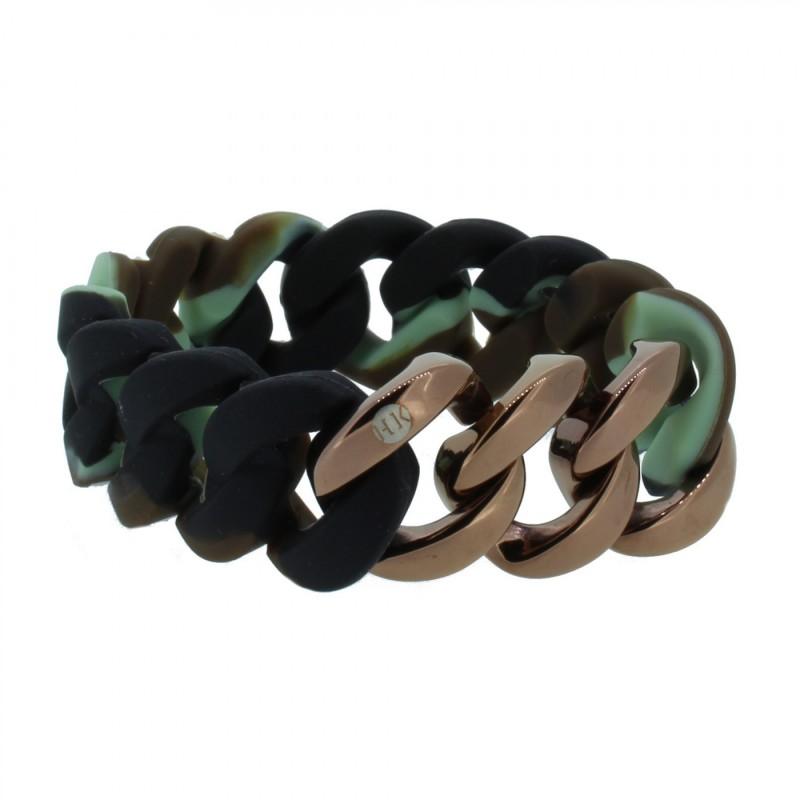 HANSE-KLUNKER ORIGINAL Damen Armband 106781 Edelstahl camouflage bronze