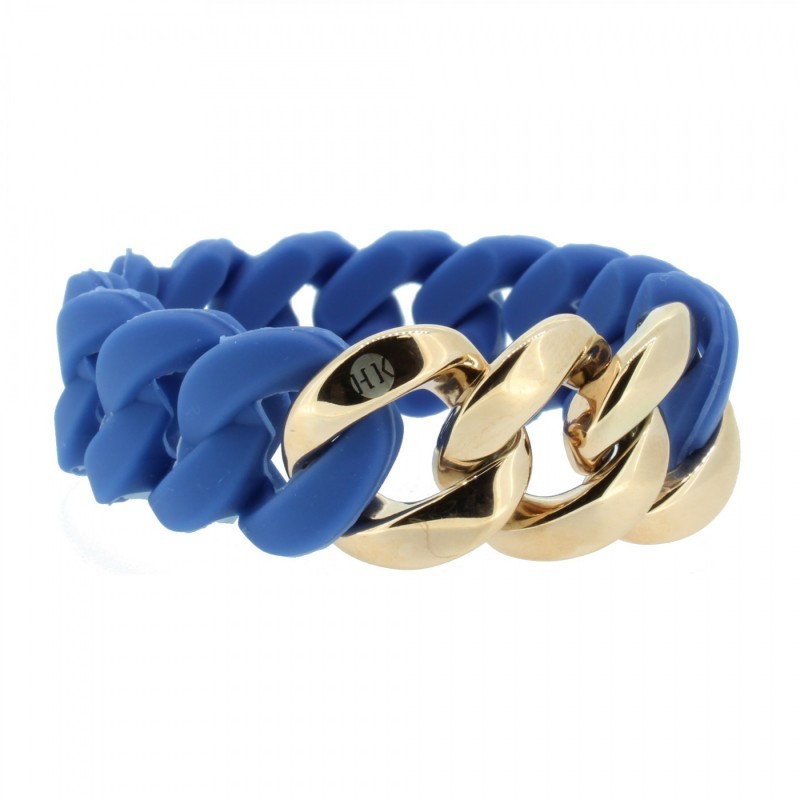 HANSE-KLUNKER ORIGINAL Damen Armband 106789 Edelstahl blau rosegold