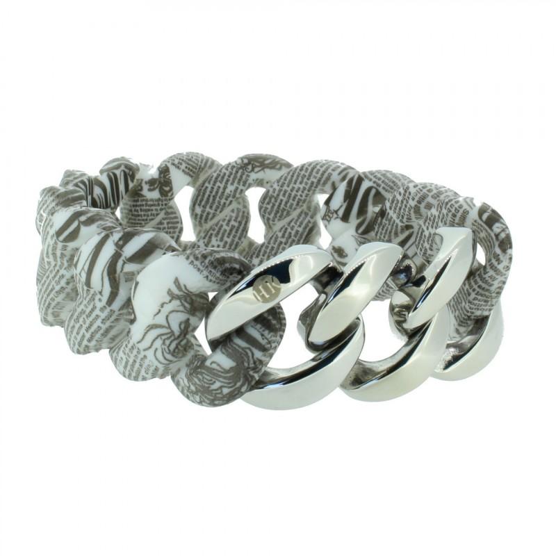 HANSE-KLUNKER ORIGINAL Damen Armband 107398 Edelstahl vintage letter silber