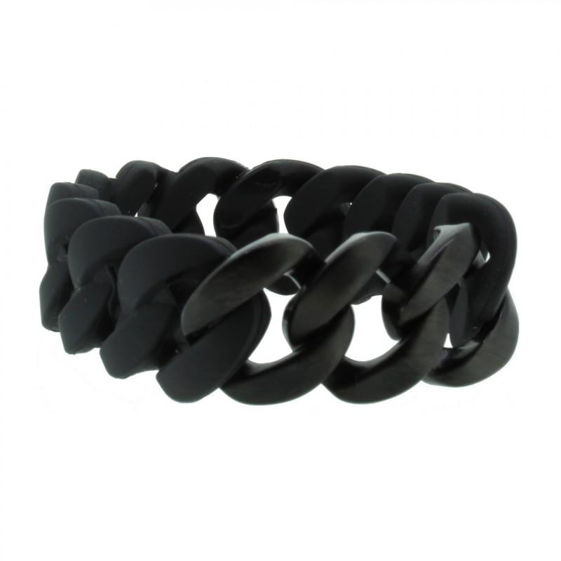 HANSE-KLUNKER ORIGINAL Damen Armband 107010 Edelstahl schwarz schwarz matt
