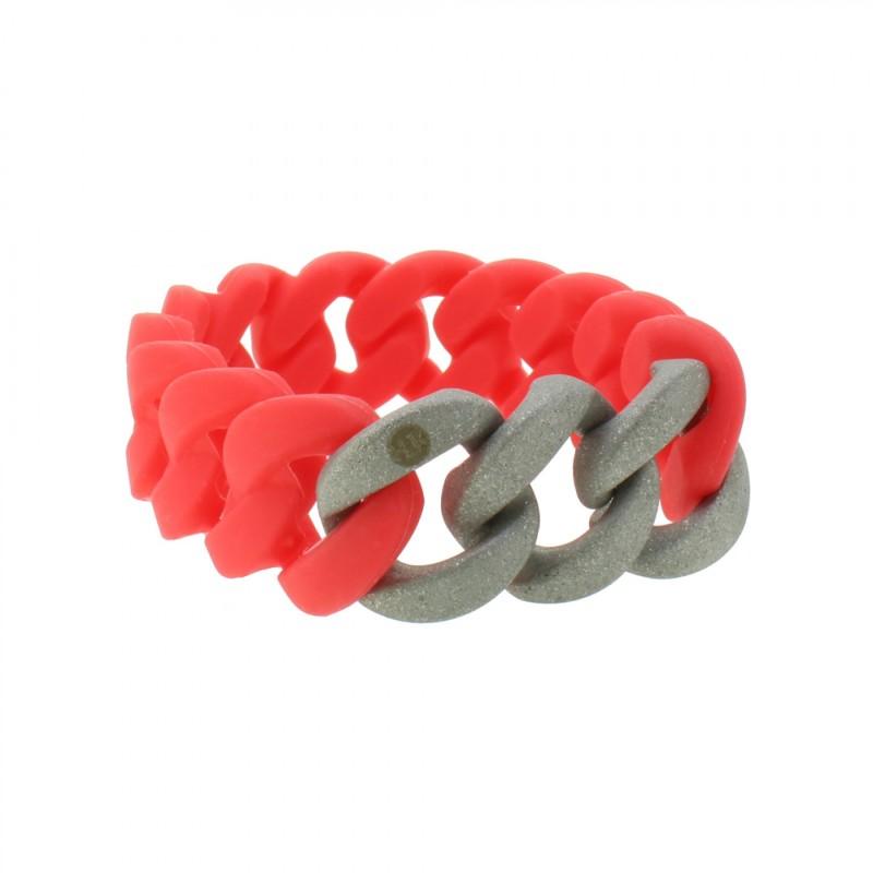 HANSE-KLUNKER ORIGINAL Damen Armband 107951 Edelstahl koralle silber sandgestrahlt