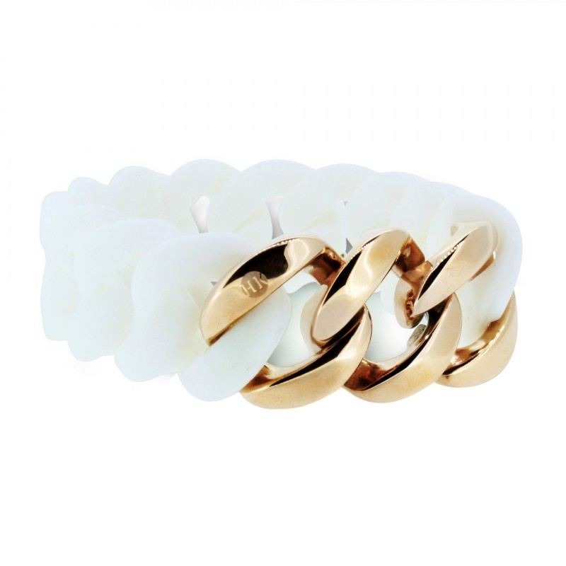 HANSE-KLUNKER ORIGINAL Damen Armband 106894 Edelstahl weiss rosegold