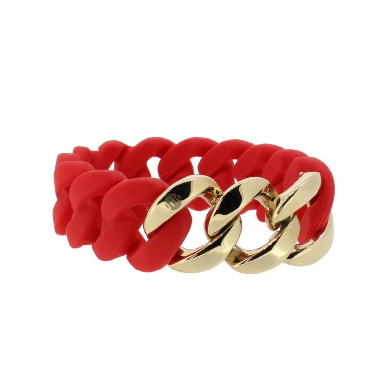 HANSE-KLUNKER ORIGINAL Damen Armband 107780 Edelstahl classic rot rosegold