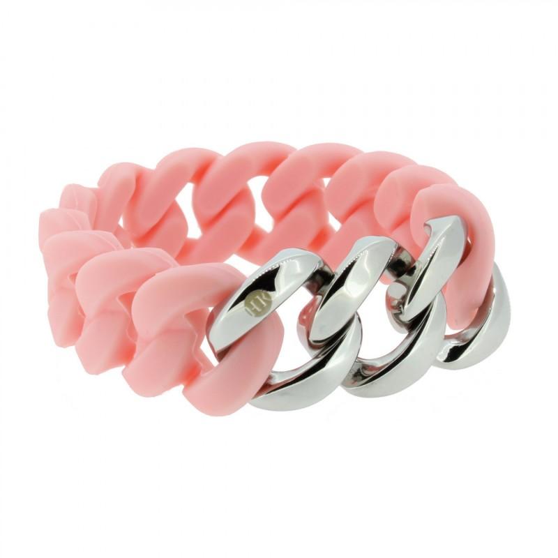 HANSE-KLUNKER ORIGINAL Damen Armband 107026 Edelstahl lachs silber