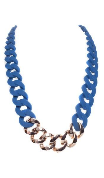 HANSE-KLUNKER Damen Kette 107081 Edelstahl blau rosegold