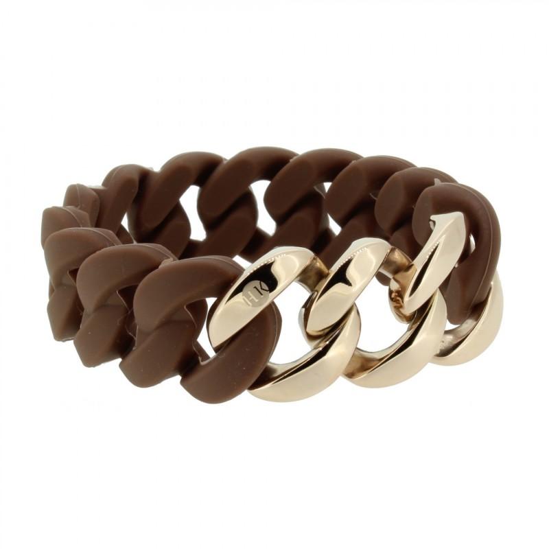 HANSE-KLUNKER ORIGINAL Damen Armband 107017 Edelstahl braun rosegold