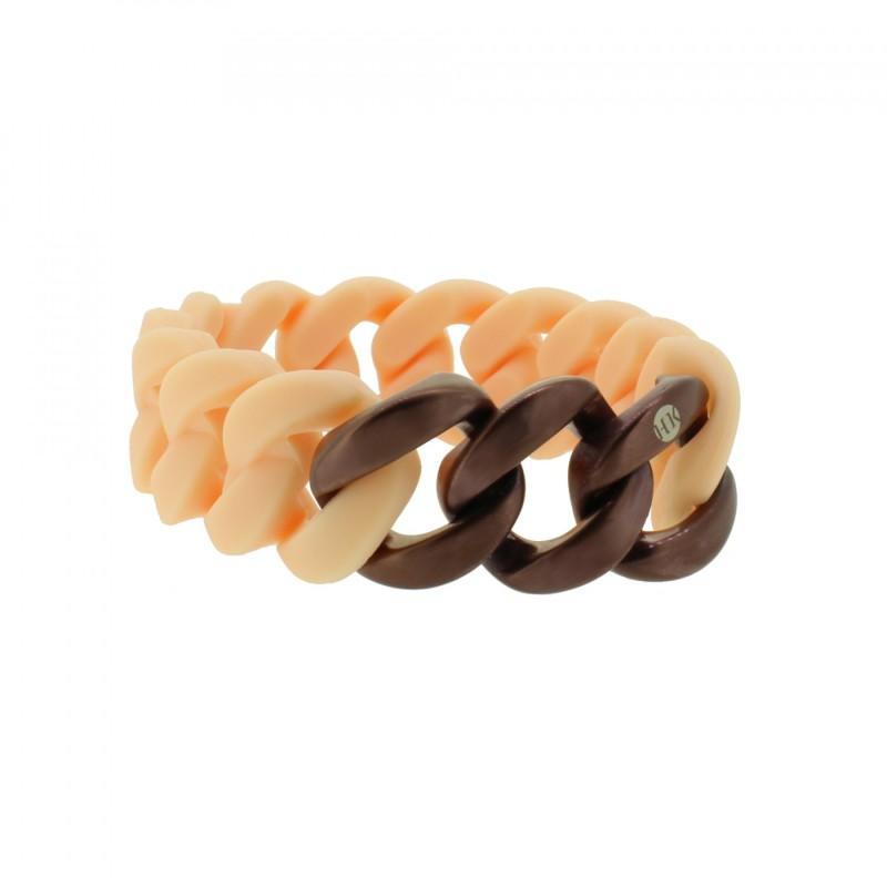 HANSE-KLUNKER ORIGINAL Damen Armband 107793 Edelstahl rosenude bronze matt