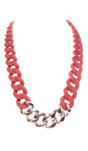 HANSE-KLUNKER Damen Kette 107078 Edelstahl Marsala rot rosegold