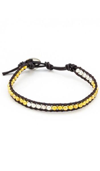 MARC SWAN Armband 100141 Leder gold silber