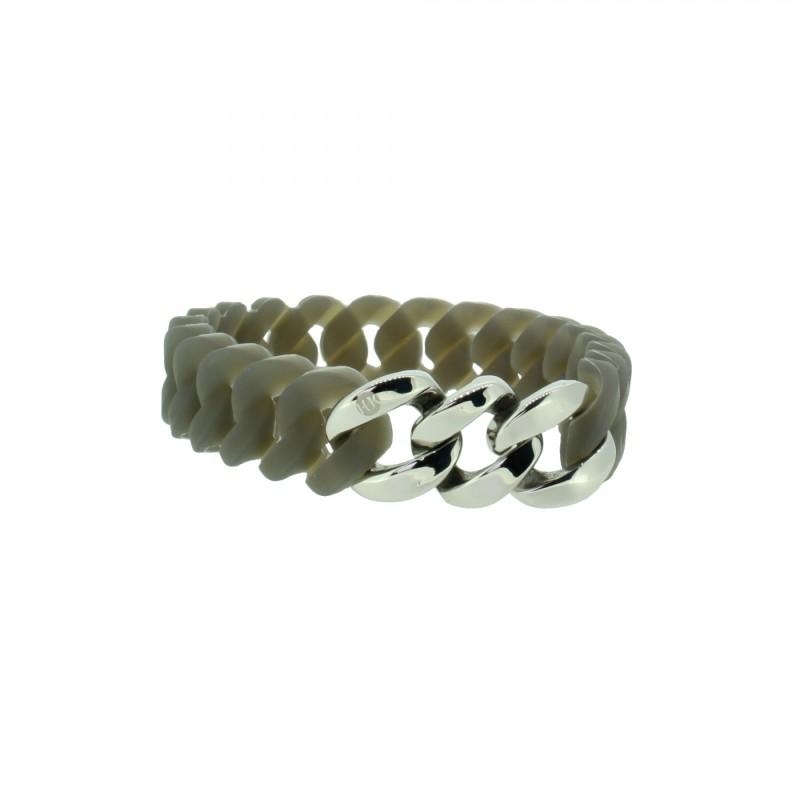 HANSE-KLUNKER MINI Damen Armband 107722 Edelstahl grau silber