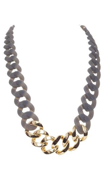HANSE-KLUNKER Damen Kette 107083 Edelstahl grau gold