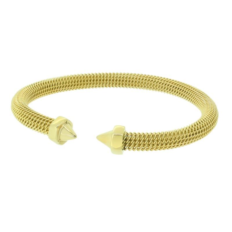 HANSE-KLUNKER MESH Collection Milanaise-Armreif Schraube 110557 Edelstahl Gold