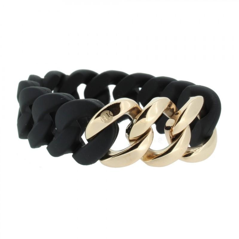 HANSE-KLUNKER ORIGINAL Damen Armband 106779 Edelstahl schwarz rosegold