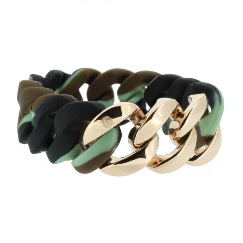 HANSE-KLUNKER ORIGINAL Damen Armband 106782 Edelstahl camouflage rosegold