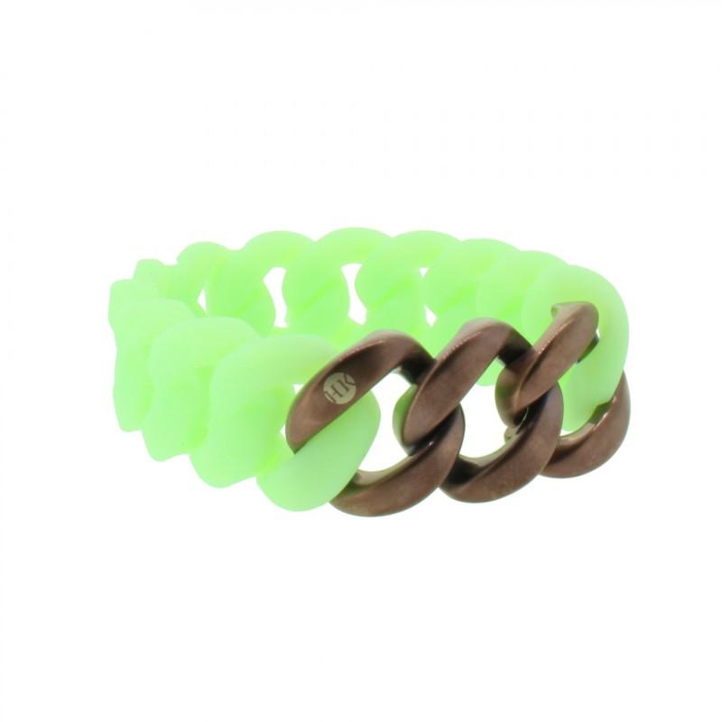 HANSE-KLUNKER ORIGINAL Damen Armband 107949 Edelstahl mintgrün bronze matt
