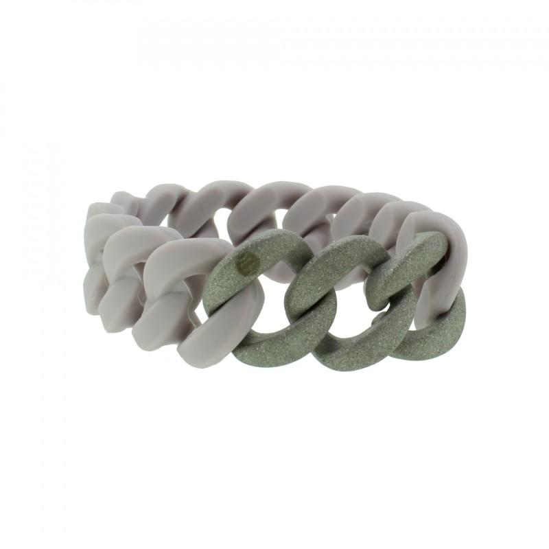 HANSE-KLUNKER ORIGINAL Damen Armband 107772 Edelstahl pastellviolett silber sandgestrahlt