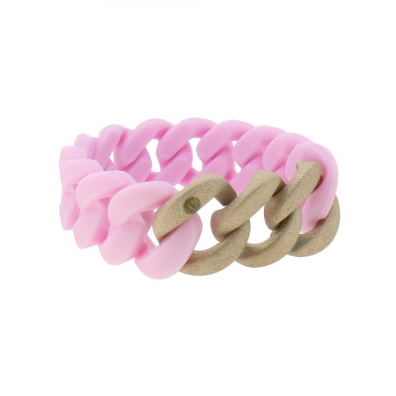 HANSE-KLUNKER ORIGINAL Damen Armband 107953 Edelstahl flieder rosegold sandgestrahlt