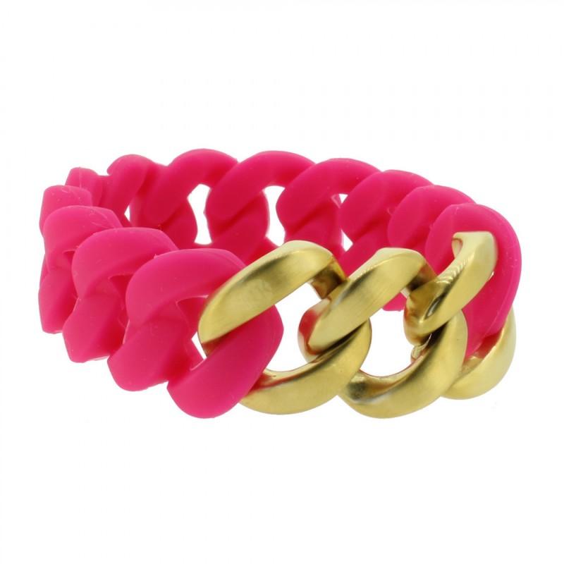 HANSE-KLUNKER ORIGINAL Damen Armband 107396 Edelstahl pink gold matt