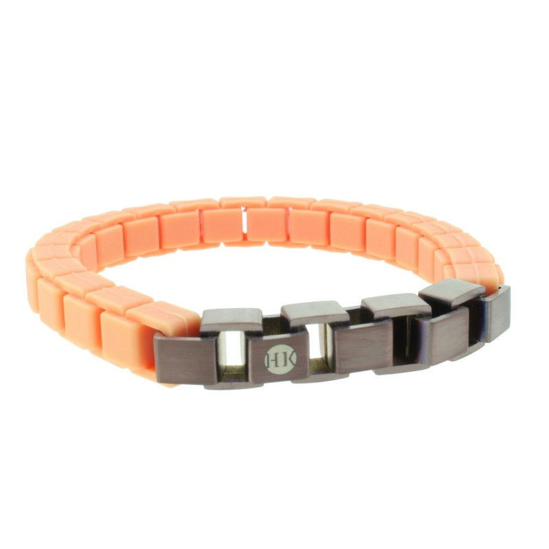 HANSE-KLUNKER FASHION Damen Armband 110471 Edelstahl peach bronze antik